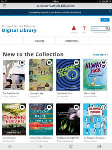The BCE Digital Library is delivered via our online library catalogue and enables students and staff at all 137 BCE schools to access ebooks and audiobooks.
