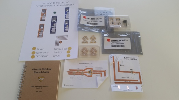 This is the sample kit you can borrow from ResourceLink. It has examples of all types of Chibitronics for you to look at.